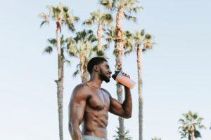 Man Drinking Protein Shake